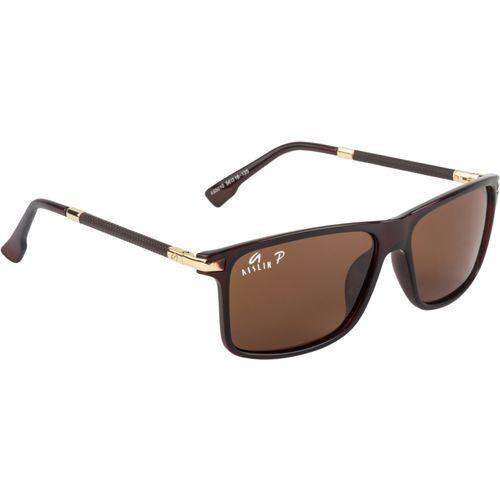 Aislin Rectangular Sunglasses(Brown)