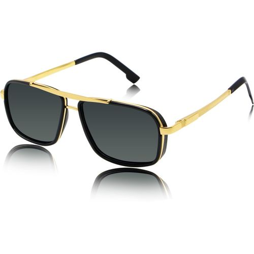 fashion sunglasses Rectangular Sunglasses(Black)