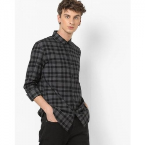 AJIO Checked Cotton Shirt with Patch Pocket