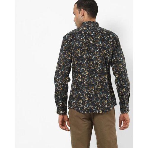 Celio Floral Print Slim-Fit Shirt
