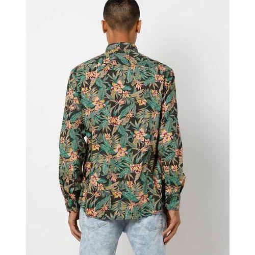 INDIAN TERRAIN Floral Print Slim Fit Shirt