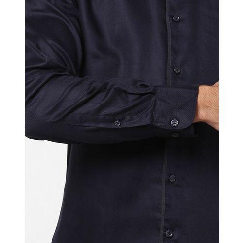 Celio Slim Fit Button-Down Double-Collar Shirt
