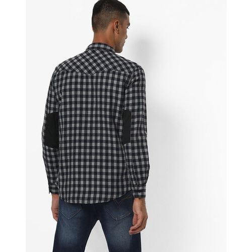 SPYKAR Checked Slim Fit Shirt with Flap Pockets