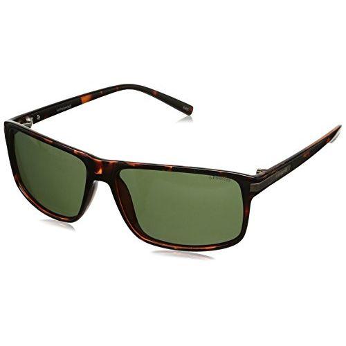 Polaroid Polarized Rectangular Men's Sunglasses - (PLD 2019/S PZO 59H8|59|Green Color)