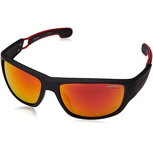 Carrera Mirrored Rectangular Men's Sunglasses - (CARRERA 4008/S 003 57W3|60|Red Color)