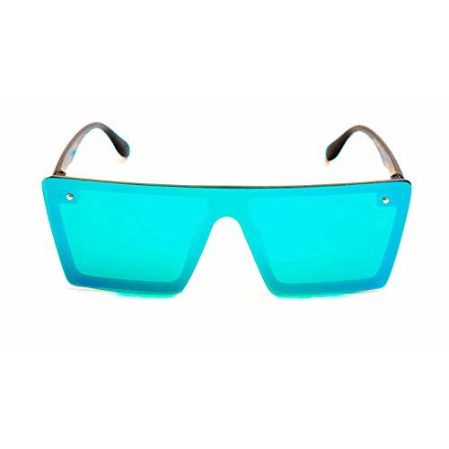 Generic M Tech Flat Design Green Square Wayfarer Goggles For Men, Women, Girls, Boys, Unisex Pack Of 1 (Color as per the availability)