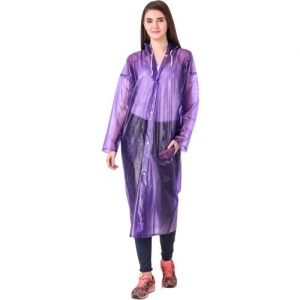 Finery Self Design Women Raincoat