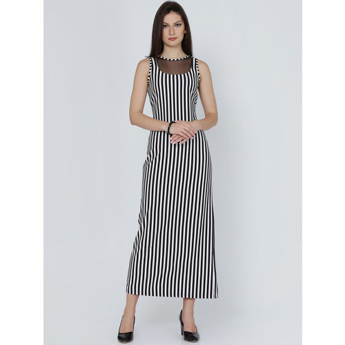 Eavan Women Black Striped Sheath Dress