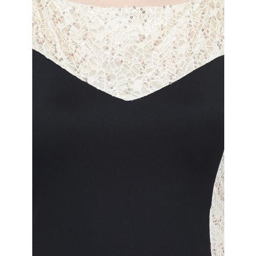 Eavan Women Black Embellished Maxi Dress
