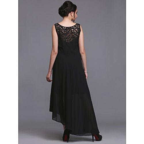 Eavan Women Black Solid Maxi Dress