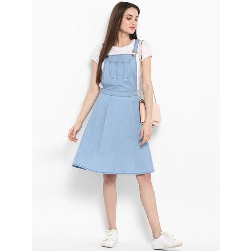 StyleStone Women Pinafore Blue Dress