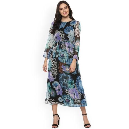 StyleStone Women Black Printed Maxi Dress