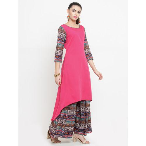 Azira Women Pink Printed Kurta with Palazzos