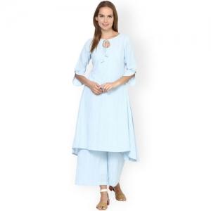 Aamii Blue Kurta with Palazzos