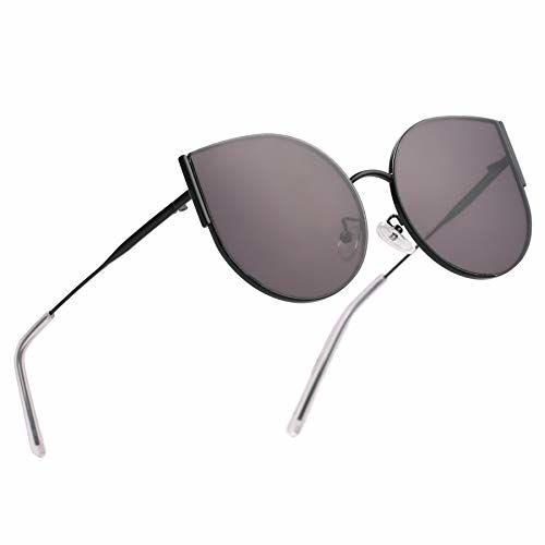 Royal Son Round, Oval, Cat-eye Sunglasses(Black)
