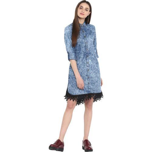 StyleStone Women Shirt Blue Dress