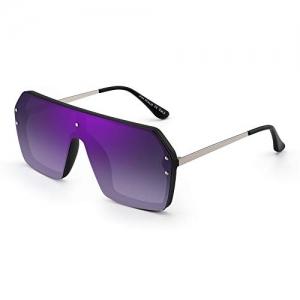 JIM HALO Unisex Shield Sunglasses