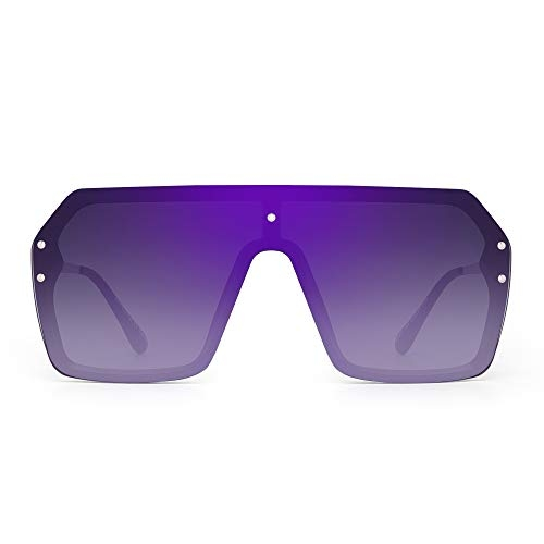 JIM HALO Unisex Shield Sunglasses