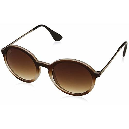 MTV Gradient Round Unisex Sunglasses - (MTV-154-C1 48 Brown Color Lens)