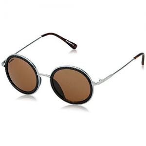 Joe Black UV Protected Round Unisex Sunglasses - (JB-788-C1|46|Brown Lens)