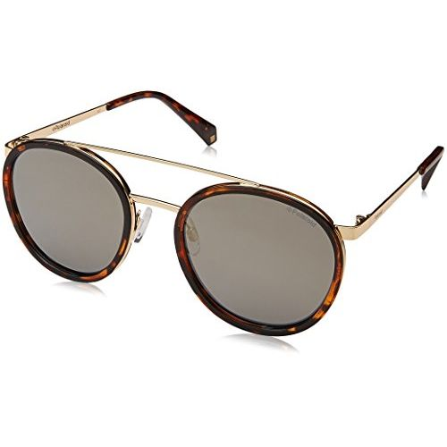 Polaroid Mirrored Round Women's Sunglasses - (PLD 6032/S 086 53LM|53|Gold Color)