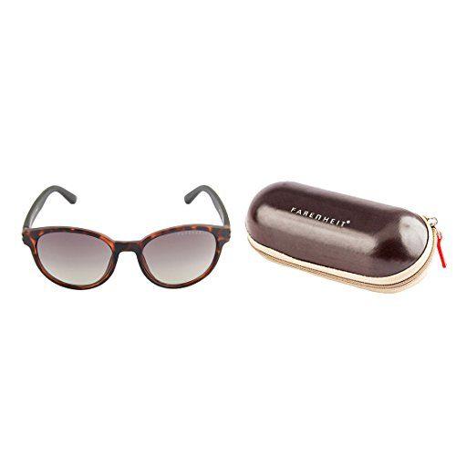 Farenheit UV Protected Round Unisex Sunglasses - (SOC-FA-1317-C2|57|Grey Color Lens)
