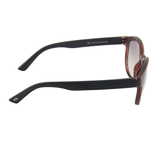 Farenheit UV Protected Round Unisex Sunglasses - (SOC-FA-1317-C2 57 Grey Color Lens)