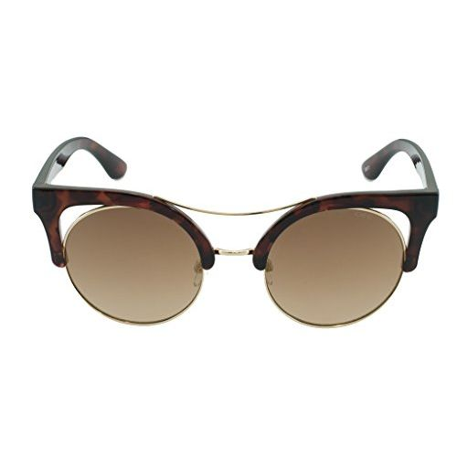 IDEE Mirrored Round Women's Sunglasses - (IDS2336C2SG|51|Light Gold Mirror-Brown Color)