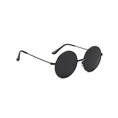 Criba Gradient Wayfarer Unisex Sunglasses - (round blk blk_CRLK20 40 Black Color Lens)