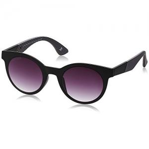 Joe Black Round Sunglasses (Black and Grey) (JB-594|C1|47)