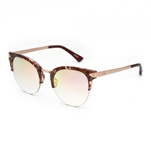 IDEE Mirrored Round Unisex Sunglasses - (IDS2224C4SG|51|Grey Grd With Gold Revo Color)