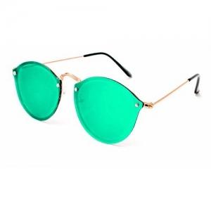 Shah Collections Premium Mercury Round Unisex Sunglasses | Stylish Flat Design Mirror Round Goggles