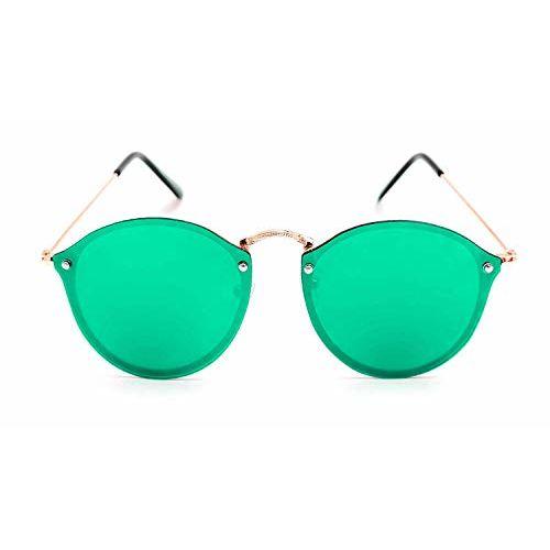 Shah Collections Premium Mercury Round Unisex Sunglasses   Stylish Flat Design Mirror Round Goggles