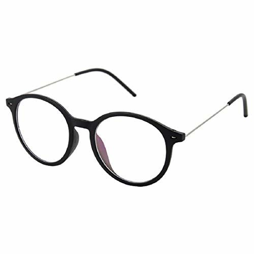 Shadz round wayfarer metal clear unisex sunglasses