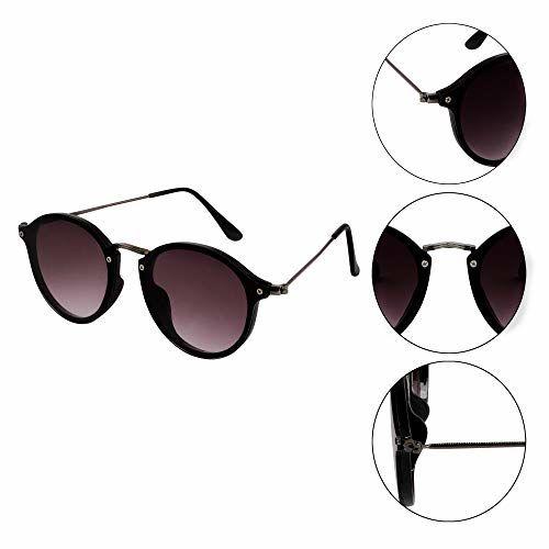 TheWhoop Premium Round Sunglasses | Stylish Flat Design Round Goggles For Men, Women, Girls, Boys