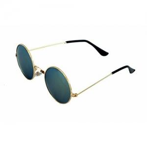 ETRG Unisex Green Round Sunglasses