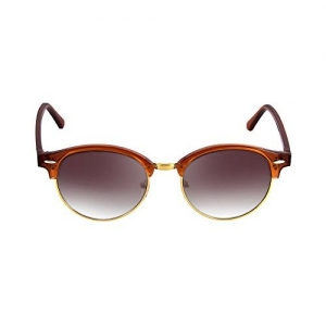 Mac V MacV Clubmaster Reflector Unisex Round Polarised Sunglasses, 100% UV Protected, 4246P