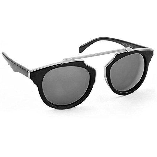 Silver Kartz Clubmaster Unisex Sunglasses (Wy139_55_Silver)