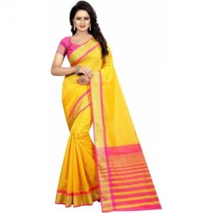 Yashika Yellow  Woven Daily Wear Cotton Silk Saree