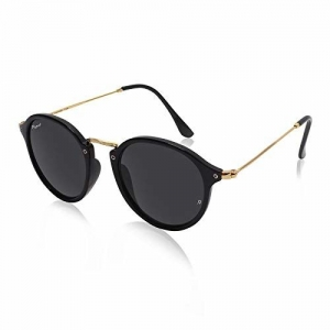 Resist Round Sunglasses - Unisex - Green,Blue,Brown,Day&Night,Black,Orange Lens 100% UV Rays Protection(Free Size)