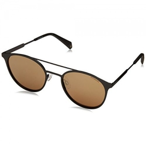 Polaroid Mirrored Round Unisex Sunglasses - (PLD 2052/S 807 51LM|51|Gold Color)
