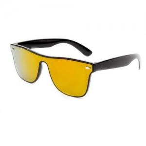 Flynn Wayfarer, Shield Sunglasses(Yellow)