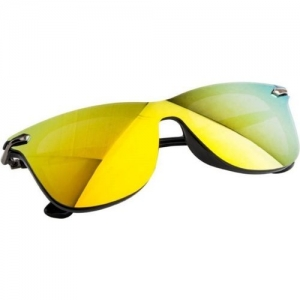 layd Shield, Wayfarer Sunglasses(Yellow)