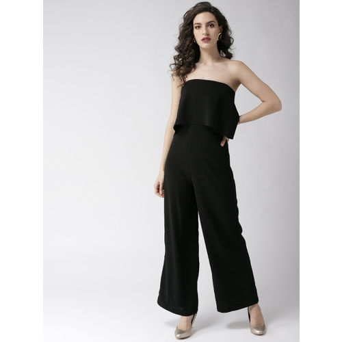 20Dresses Black Solid Layered Tube Jumpsuit