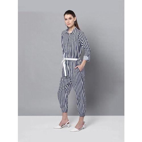 Street 9 Blue Striped Jumpsuit