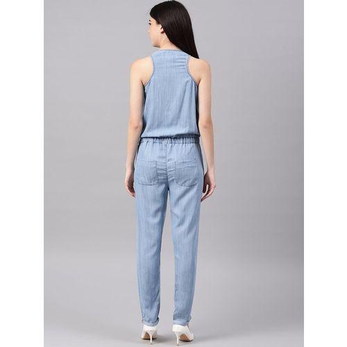 NUSH Blue Maxi Jumpsuit