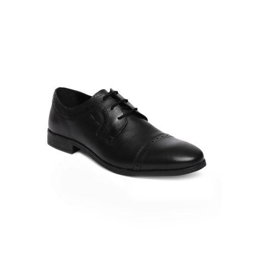 Park Avenue Men Black Solid Leather Formal Slip-on Shoes