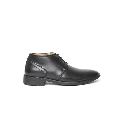 Duke Men Black Solid Formal Derbys