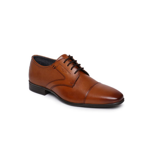 Park Avenue Men Formal Brown Genuine Leather Derbys