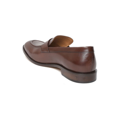 Geox Men Brown Leather Formal Slip-Ons